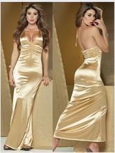2014 high elegance Women's dress Shoulder straps deep V sexy dress evening gown evening party dress