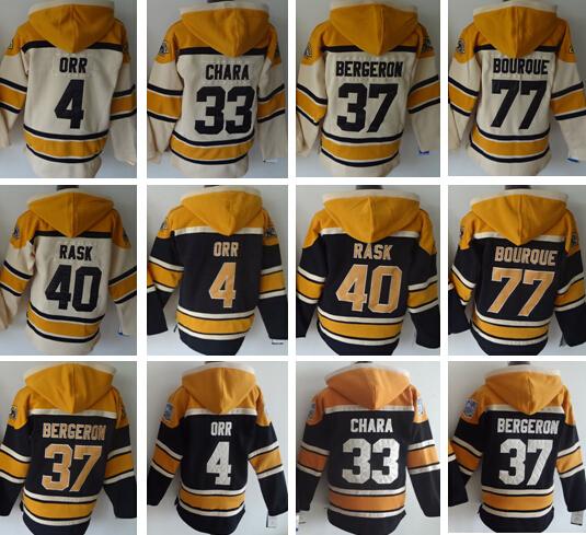 hoodies, hoody, hockey 4 Bobby Orr 37 patrice bergeron 33 Zdeno Chara 40 Tuukka Rask 77 Ray Bourque Milan Lucic bruins blank(China (Mainland))