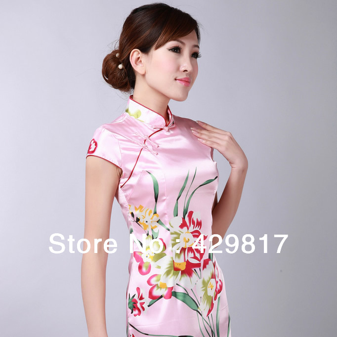 new chinese style summer clothing women fashion shirt Silk short dress ...