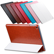Business Book Luxury Retro Slim 3 Folded Leather Case For Apple iPad Air Stand Holder Great Display Protective Cover For iPad 5