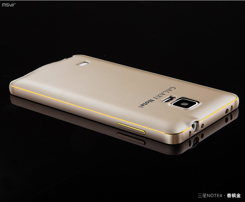 note 4 gold edge bumper+cover-8