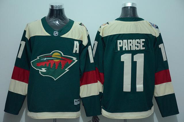 Men's 2016 Stadium Series Jersey authentic Minnesota Wild #11 Zach Parise Home Green stitching High quality Ice Hockey Jerseys(China (Mainland))