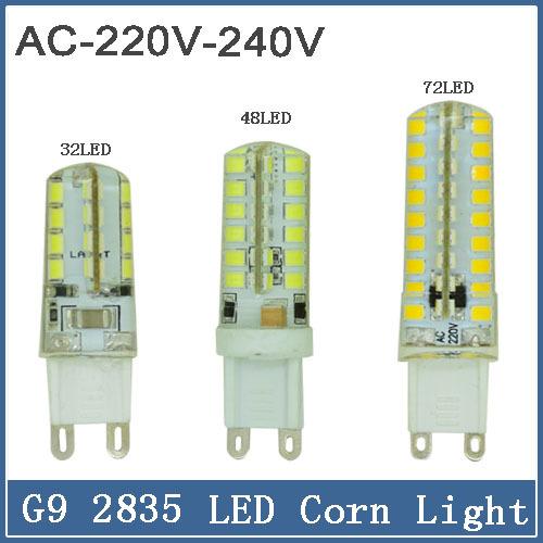 1pcs Dimmable G9 LED Bulb 220V 7W 9W 12w LED Lamp G9 SMD 2835 2015 CREE LED light 360 degree Beam Angle led spotlight lamps(China (Mainland))