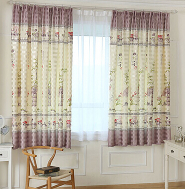 2 metres height short curtain / half curtain bedroom children room balcony half shading curtain finished product(China (Mainland))