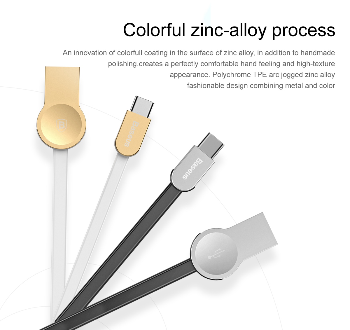 Baseus 1M USB Type C Cable Data Sync Charging Type-C USB Charger Cable For Xiaomi mi5 mi4c LG Nexus 5X 6P Meizu PRO 5 Oneplus 2