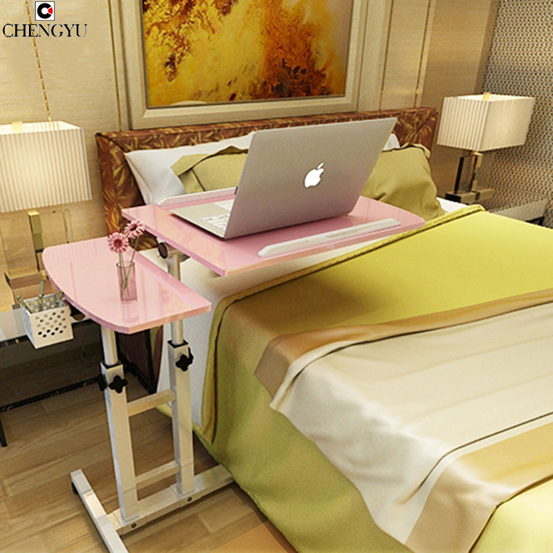3 STYLES Simple Lazy Notebook Computer Table Bed With Computer Desk Folding Lift Bedside Mobile Creative Desk 64*40*95CM(China (Mainland))