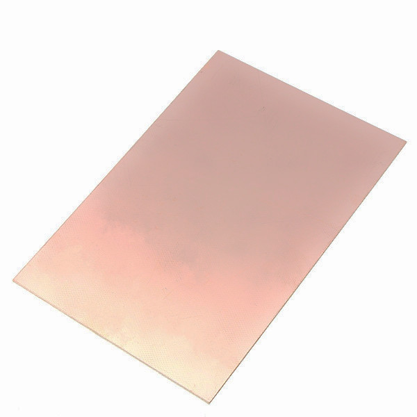 10 x 15cm Single PCB Copper Clad Laminate 1.2mm thickness Panel Class FR4 Operating Temperature Up to 140 Celsius(China (Mainland))