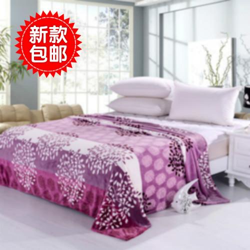 Thickening thermal purple FL fleece blanket coral fleece blanket sierran blanket bed sheets(China (Mainland))