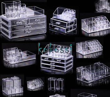 High Quality Cosmetic Organizer Makeup Drawers Display Box Acrylic Clear Cabinet Cases Set S3