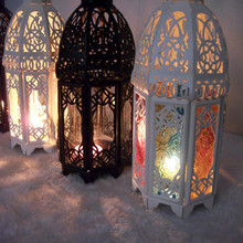 New Arrival Fashion Iron Candlestick European-Mediterranean Castle Lantern Wedding Gifts Hot Sale (China (Mainland))