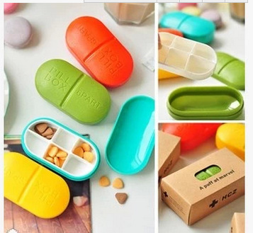 2014 folding kit 6 Colorful mini-grid travel storage pill box case small portable medicine easy carry - seven leaves store