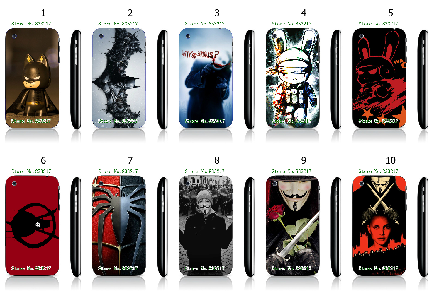 Cool Style Famous Hero White Hard Plastic Case Cover for iPhone 3 3GS(China (Mainland))