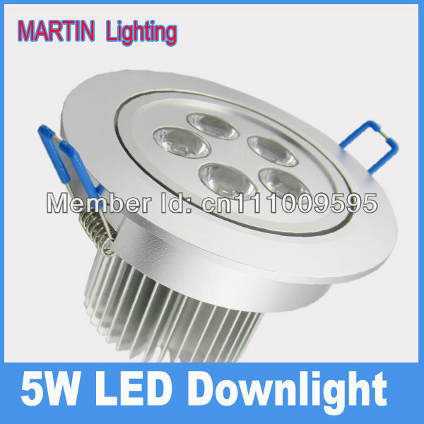 High Quality 3W 5W LED recessed ceiling downlight 550lm energy saving dinning bedroom hotel lighting