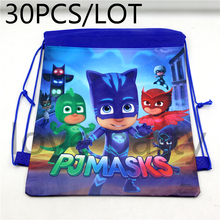 Buy Baby Shower PJ masks Theme Non-Woven Fabric Backpack Kids Favors Gifts Drawstring Bag Birthday Party Decoration Supplies 30pcs for $27.50 in AliExpress store