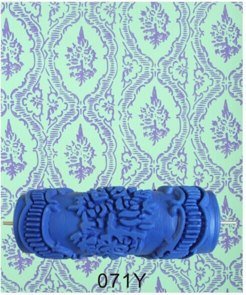 5 inch patterned paint roller texture paint roller for for Wall painting utensils