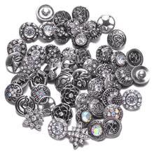 Royalbeier 20 unids/lote mezcla de estilos de Metal encantos 12mm botón Snap joyería broches pulsera DIY Snap joyería(China)