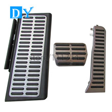 Buy Drill Plate Stainless Steel Pedals Free Punch Fuel Brake Footrest Pedal Automatic Audi Q3 Replacement Fit LHD for $20.58 in AliExpress store