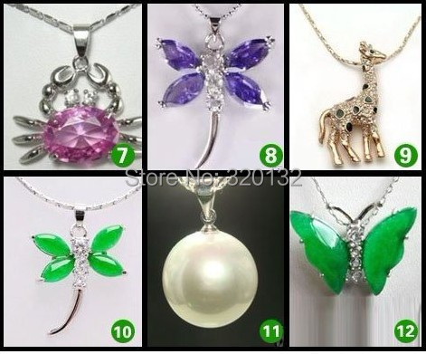 Pretty Faith Prayer new Jade pearl Austria Crystal Pendant necklace+chain WHOLESALE 6pcs18K Gold Plated Silver Hook Free Shiping(China (Mainland))