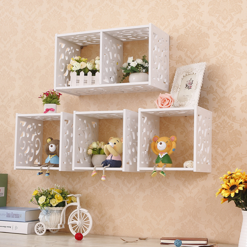 Home Decorative Organizer Shelves One Grid Cabinet Wall Shelf Storage Holder Handmade Craft Racks Wood Composite(China (Mainland))
