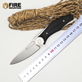 BMT Bear Dark Folding Blade Knives Tactical Knife D2 Blade G10 Handle Wild Boar Camping Survival