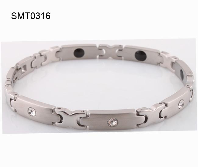 wholesale fashion jewelry italian germanium bracelet for men Free shipping 316L Stainless Steel man charm Bracelets Bangles(China (Mainland))