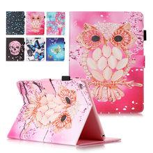 Fashion Leather Smart Flip Cover For Apple iPad Air 2/iPad 6(2014) funda case shell skin with Card Holder+flim+stylus pen KF553(China (Mainland))