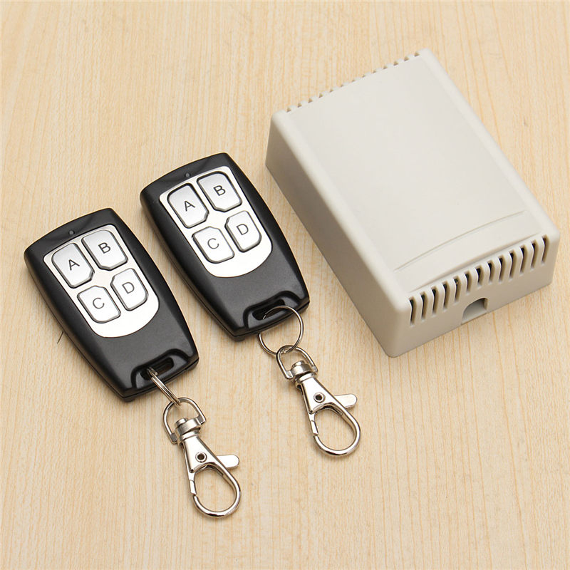 Best Promotion 12V 3A 4 Channals 200M Wireless Remote Control Relay Switch Transceiver With 2 Receiver Suppoet Wholesale(China (Mainland))