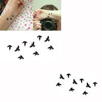 Waterproof Body Art temporary tattoo flash Tattoo Sticker Birds Pattern Temporary Tattooing Paper