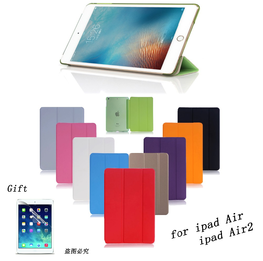 sale for ipad air air 2 Smart Case Ultra Slim Original 1:1 Tablet Leather For Apple ipad A1566`A1567 A1474`A1475`A1476 case(China (Mainland))