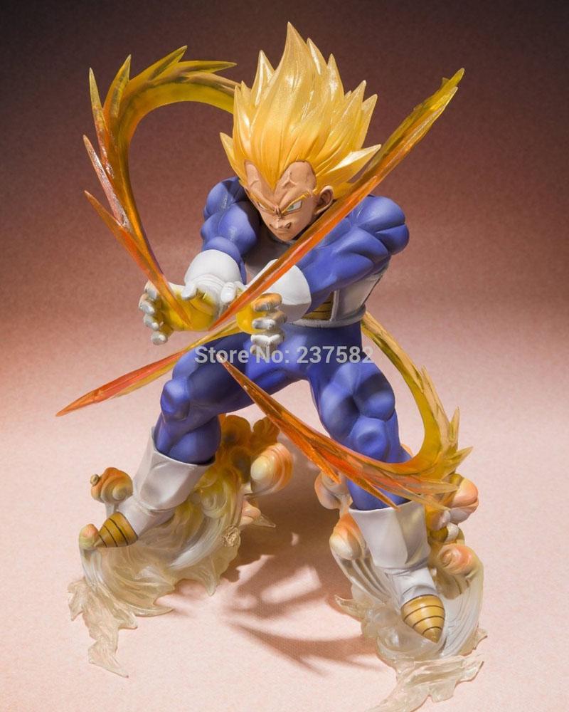 Classic Japanese Anime Dragon Ball Z Figurines Super Saiyan Vegeta Battle State Flash Action Figure Model Toy(China (Mainland))