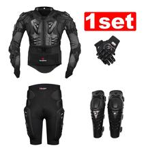 New Moto Motorcross Racing Motorcycle Body Armor Protective Jacket+ Gears Short Pants+protective Motorcycle Knee Pad+gloves(China (Mainland))