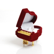 1Pcs Wine RedPiano Ring Box Earring Necklace Pendant Jewelry Treasure Gift Case Wedding (Size: 6cm by 5cm by 3.5cm)(China (Mainland))