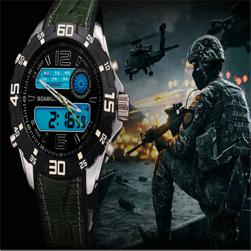 Relogio Masculino feminino watches men military army sports Dual Time Quartz Digital Watch rubber band wristwatches - Yue happy shopping(min,order $10 store)