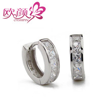 Free shipping Male earring 925 pure silver jewelry lettering 2012 gift boys(China (Mainland))