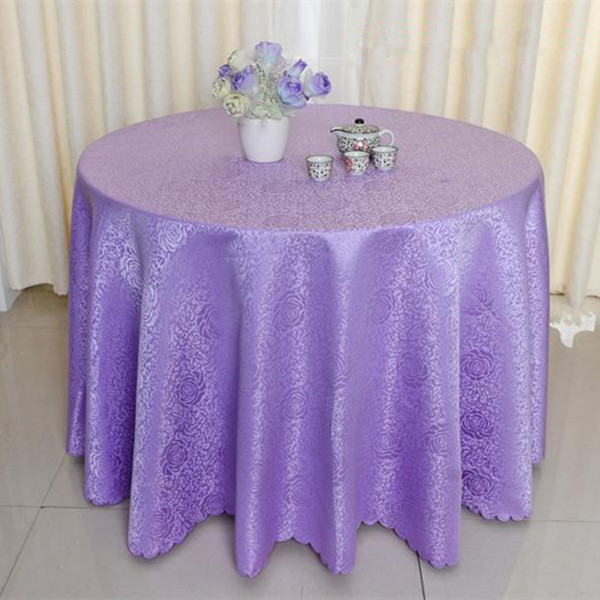 Polyester Solid Dining Table Linen Hotel Round Table Cloths Wedding Table Cloth Banquet Table Cover Purple/Red/Beige/Gold(China (Mainland))