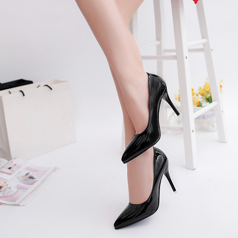 High heels Pointed toe Classics women pumps Patent Leather ladies shoes sexy high heels Women's Pumps chaussure femme(China (Mainland))