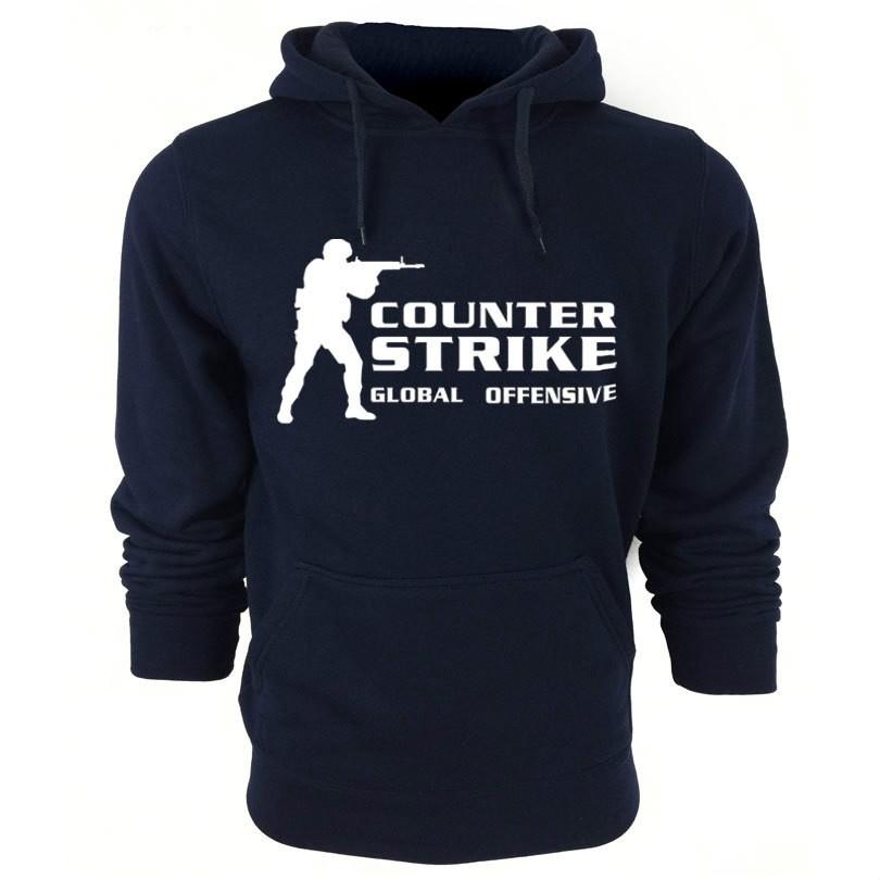 2016 New Winter Men's Hoodies CS Printed Thicken Pullover Sweatshirt Men Hooded Sportswear(China (Mainland))