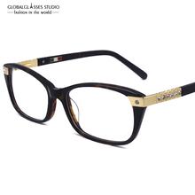 Luxury Diamond Eyeglass Frames High Quality Glasses Women New Designer Optical Frame Eyewear 602R