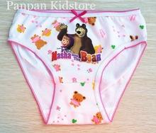 2015 Olike brand children girl panties cute cotton girl panties underwear briefs random color 3-12y(China (Mainland))