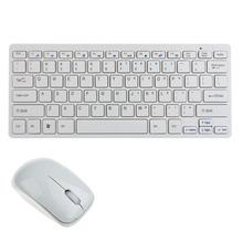 Красивый подарок новый 2.4 г ультра-тонкий мини беспроводная клавиатура и мышь комбинированные для настольных пк бесплатная доставка Jan01