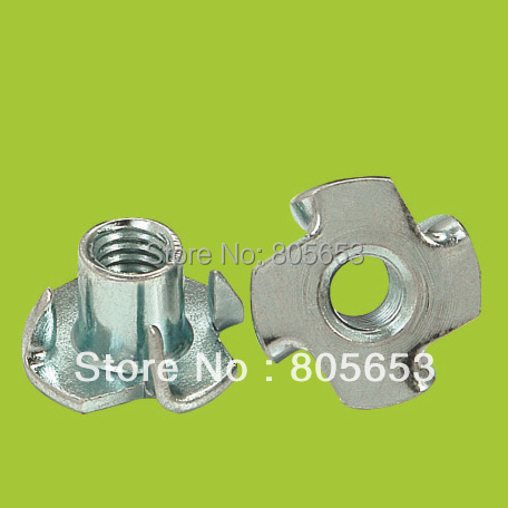 zinc plated/nickle plated furniture fitting prong tee nut (N1714)