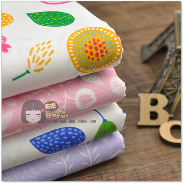 """Crayon Painting Style Flower 4 Designs Charm Floral Print Twill Cotton Fabric Home Textile Bedding Cloth Width 160 cm 63""""(China (Mainland))"""