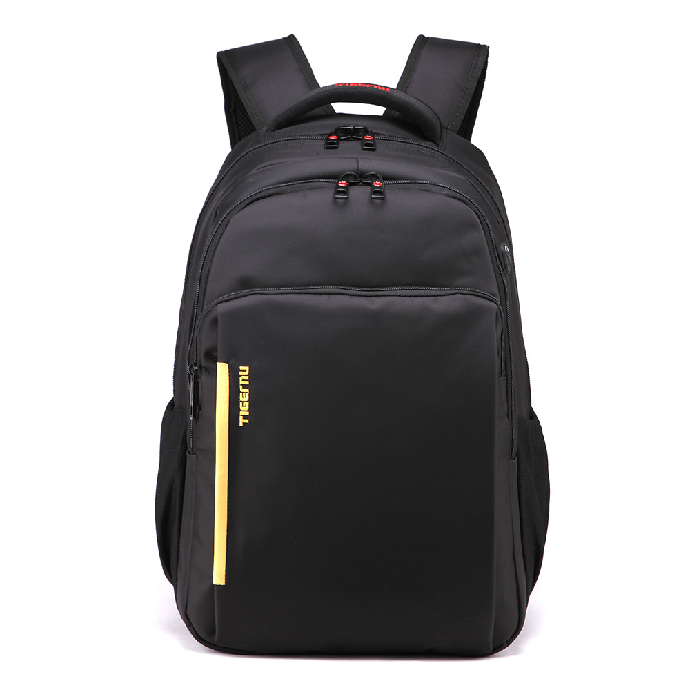 Quality Black Nylon Waterproof Backpack School for Men Laptop Notebook 15.6 Inch Large Capacity Cheap Sale ISO9001.2008(China (Mainland))