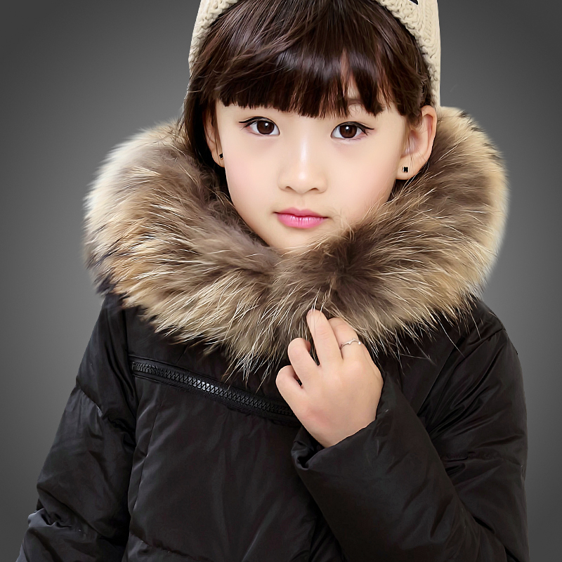 7 Colors 2015 Brand Girls Winter Coat Children Parkas Long duck Down Thick Large Fur Hooded Winter Jacket For Girls CC2217WW<br><br>Aliexpress