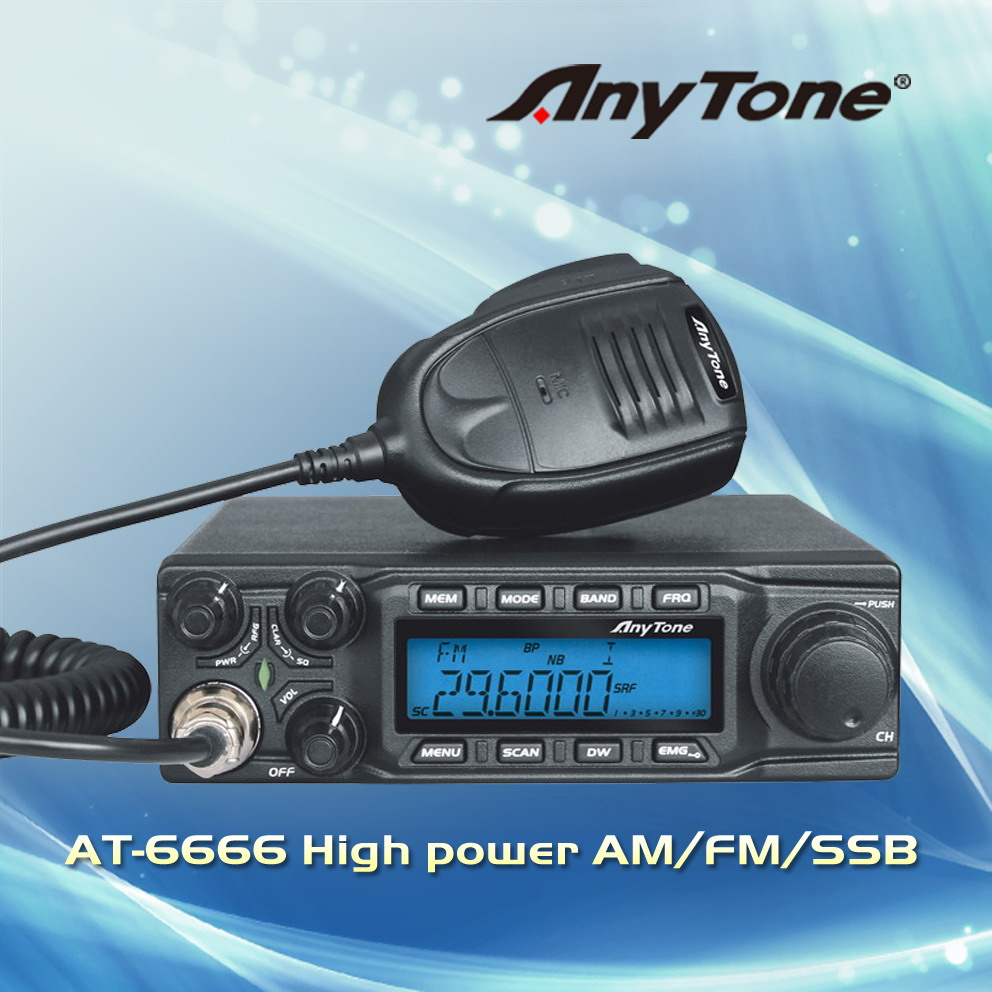 Anytone AT-6666 high power AM/FM/SSB Amateur radio(China (Mainland))