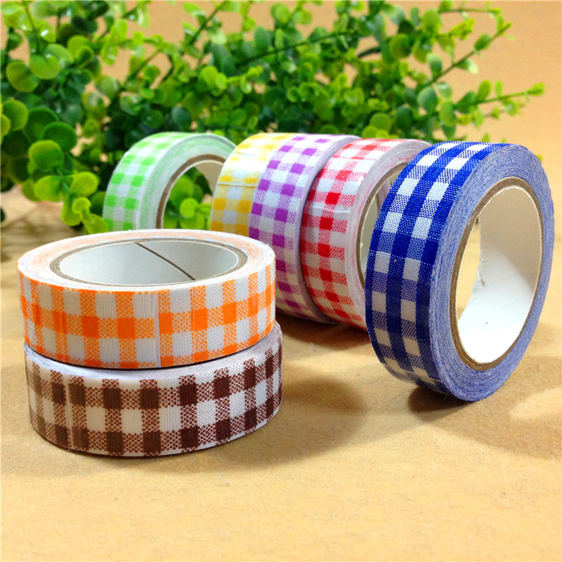 1PCS 8 colors DIY Cute Cartoon w*s*i tape Sticker Paper plaid for Scrapbooking Decoration Stationery Free shipping<br><br>Aliexpress