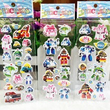 Robocar Poli Toy Bubble stickers Korea Robot Car Transformation Toys Best christmas Gifs For Kids toys spume stickers(China (Mainland))