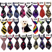 10PCS 20PCS 30PCS Lovely Adorable Dog Cat Pet Sweetie Grooming Stripes Tartan Tie Necktie Many Color Dog Collar Poodles BLA0001