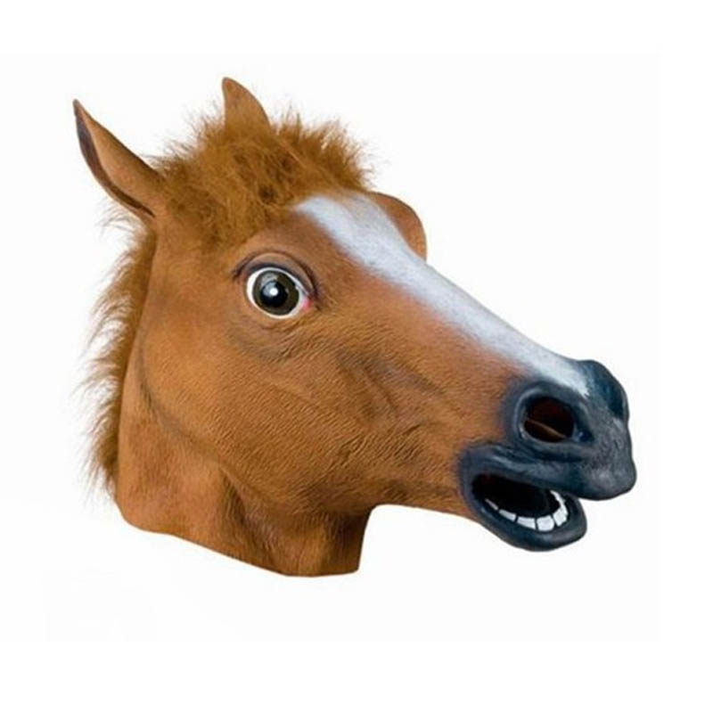 3 Colors halloween horse mask latex horse head animal masks Emulsion Party Masquerade Full Head Scary Mask(China (Mainland))