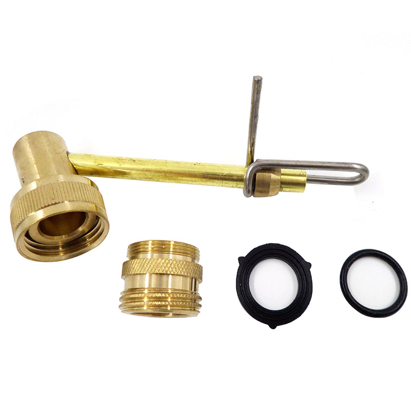 Brass carboy bottle washer faucet adapter home brew